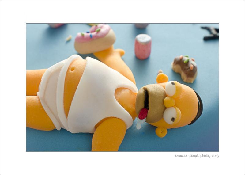 particolare del personaggio di Homer