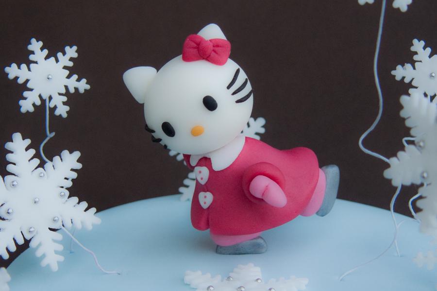 Particolare di Hello Kitty pattinatrice