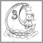 anteprima schizzo hello kitty luna