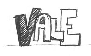 """schizzo del particolare della scritta """"vale"""""""