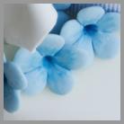fiori azzurri zucchero
