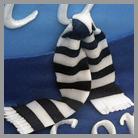 torta decorata: particolare della sciarpa della juve