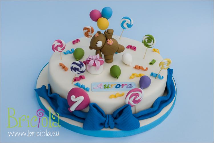Torta orsetto palloncini