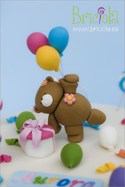 Particolare orsetto con palloncini