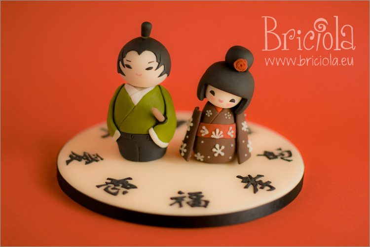 sposini cinesi - groom bride Kokeshi