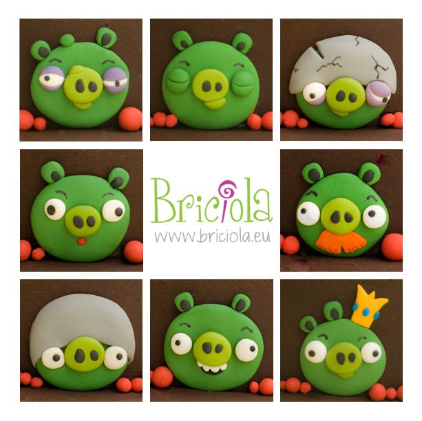 Angry birds - maialini - www.briciola.eu