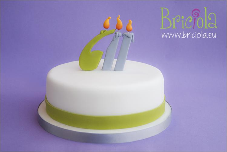 torta logo candeline