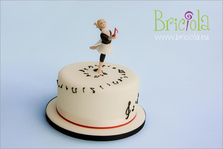 torta musica e ballerina - www.briciola.eu