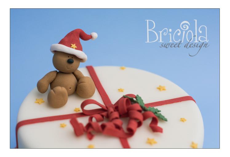 torta natalizia orsetto - particolare