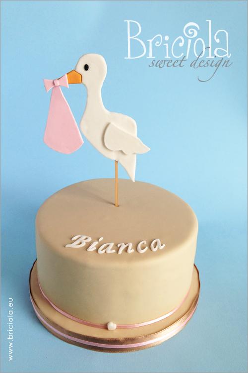 torta benarrivato - cicogna