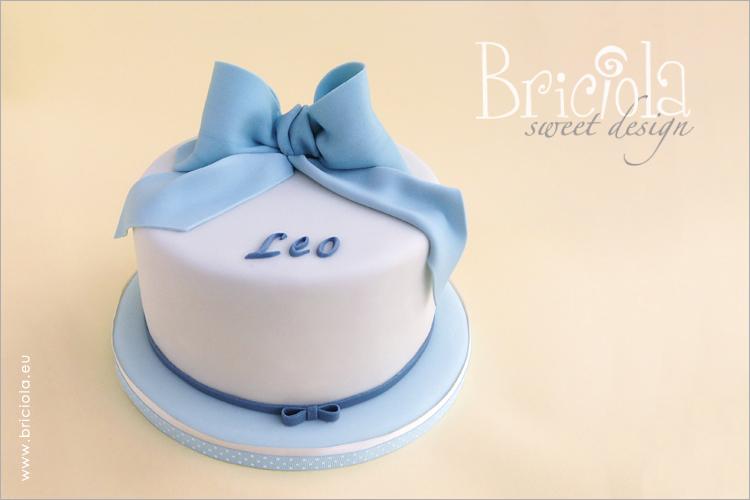 torta benarrivato - fiocco azzurro