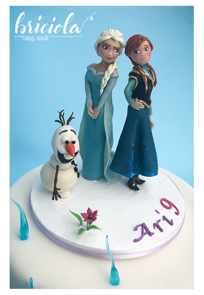 Topper compleanno - Frozen - Anna, Elsa, Olaf