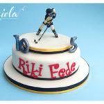 torta e topper compleanno - hockey