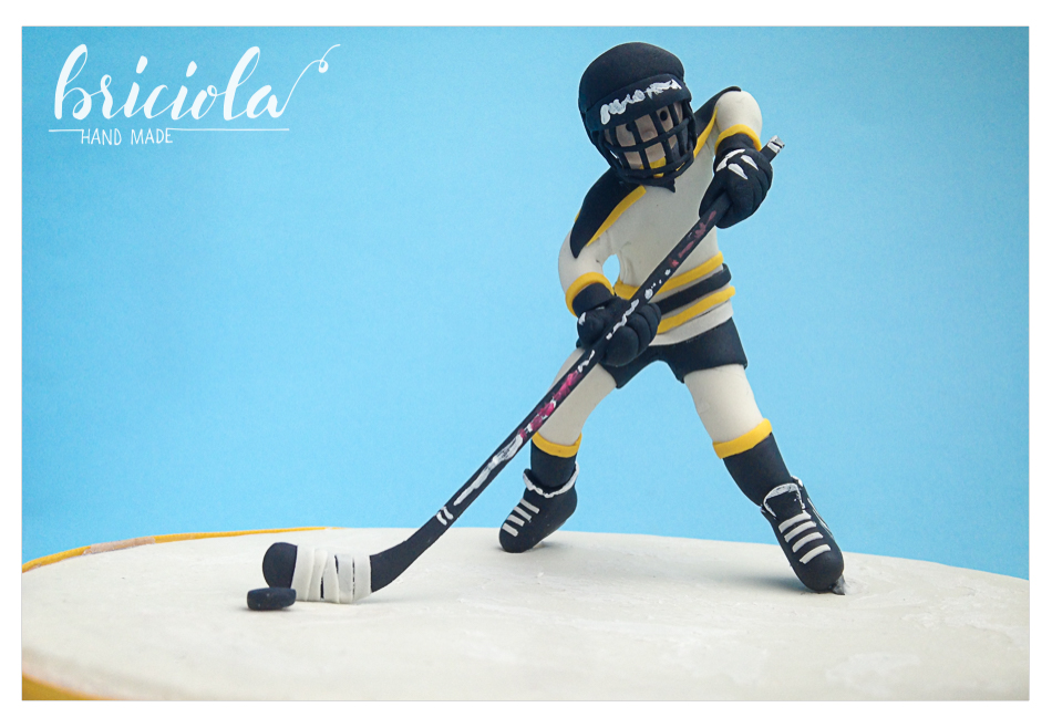 topper compleanno - hockey