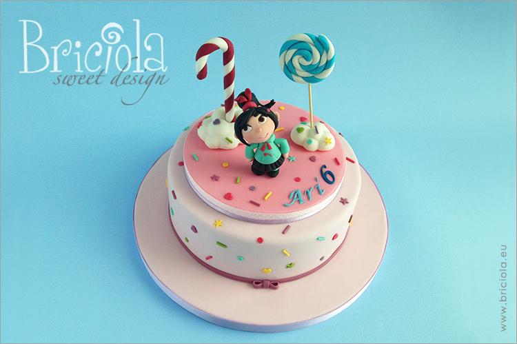torta e topper compleanno - Vanellope