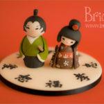 topper matrimonio - kokeshi