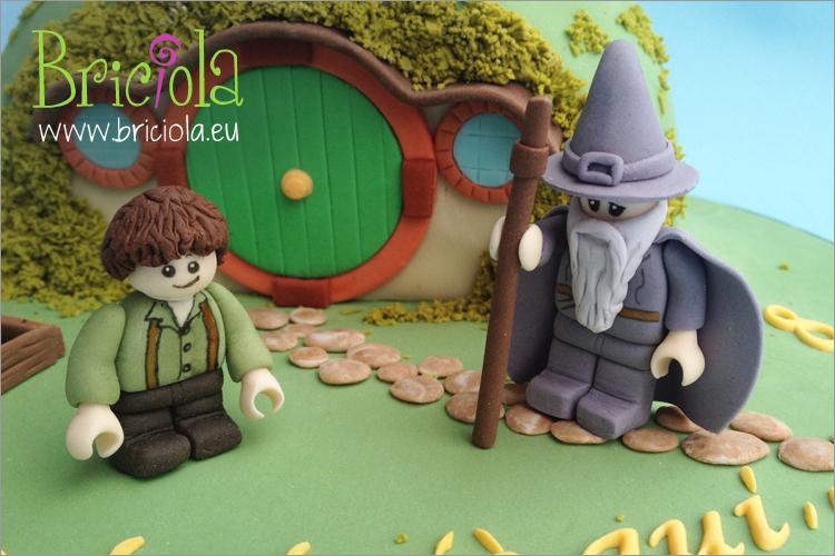 torta compleanno - lego Signore degli Anelli