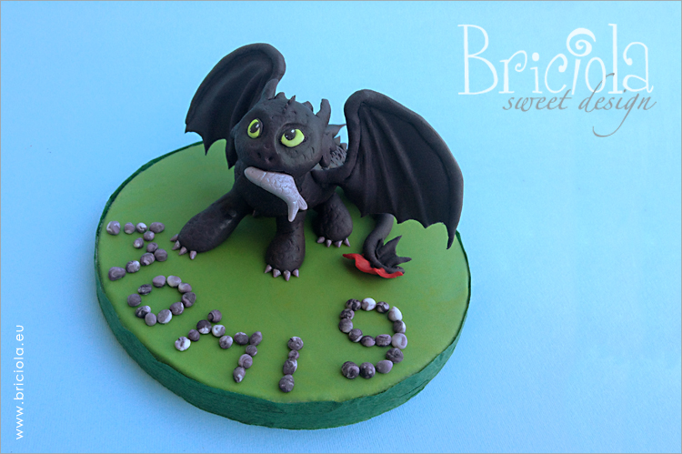 topper compleanno - Dragon Trainer -sdentato