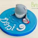 topper compleanno - squalo