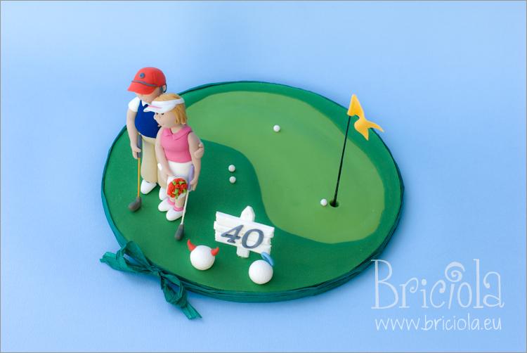 topper anniversario di matrimonio - golfisti