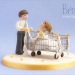topper matrimonio - sposina nel carrello